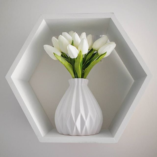 Finally found a vase and flowers for my second #kmart shadow box. Loving the way it looks in my hallway now :-)