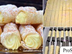 Starý recept na trubičky s vanilkovým krémem: Pokud se naučíte tento recept od mé babičky, už si je v obchodě nikdy nekoupíte