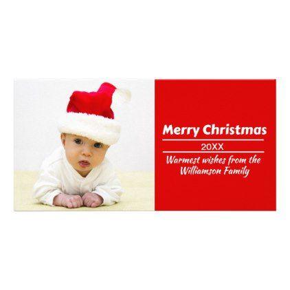 DIY Photo Christmas Card - Add Pic and Text! - diy christmas xmas merry christmas cyo holidays family gift idea