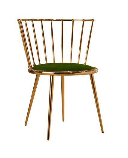 Copper chair. I'd prefere mine with a white cushion on it, the green maxes this look a bit seventies dark.
