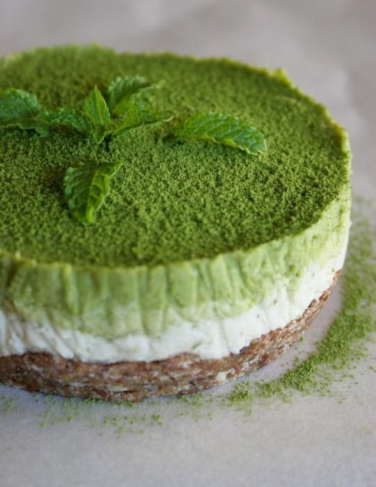 Cake of the Day: Raw Coconut Mint Matcha Cake