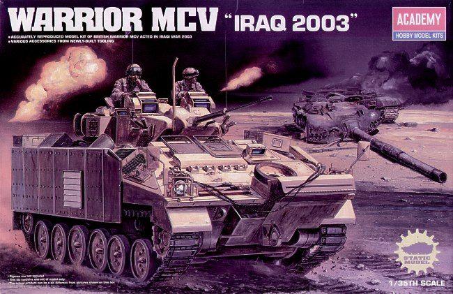 "Warrior MCV ""Iraq 2003"". Academy, 1/35, injection, No.13201. Price: 26,99 GBP."