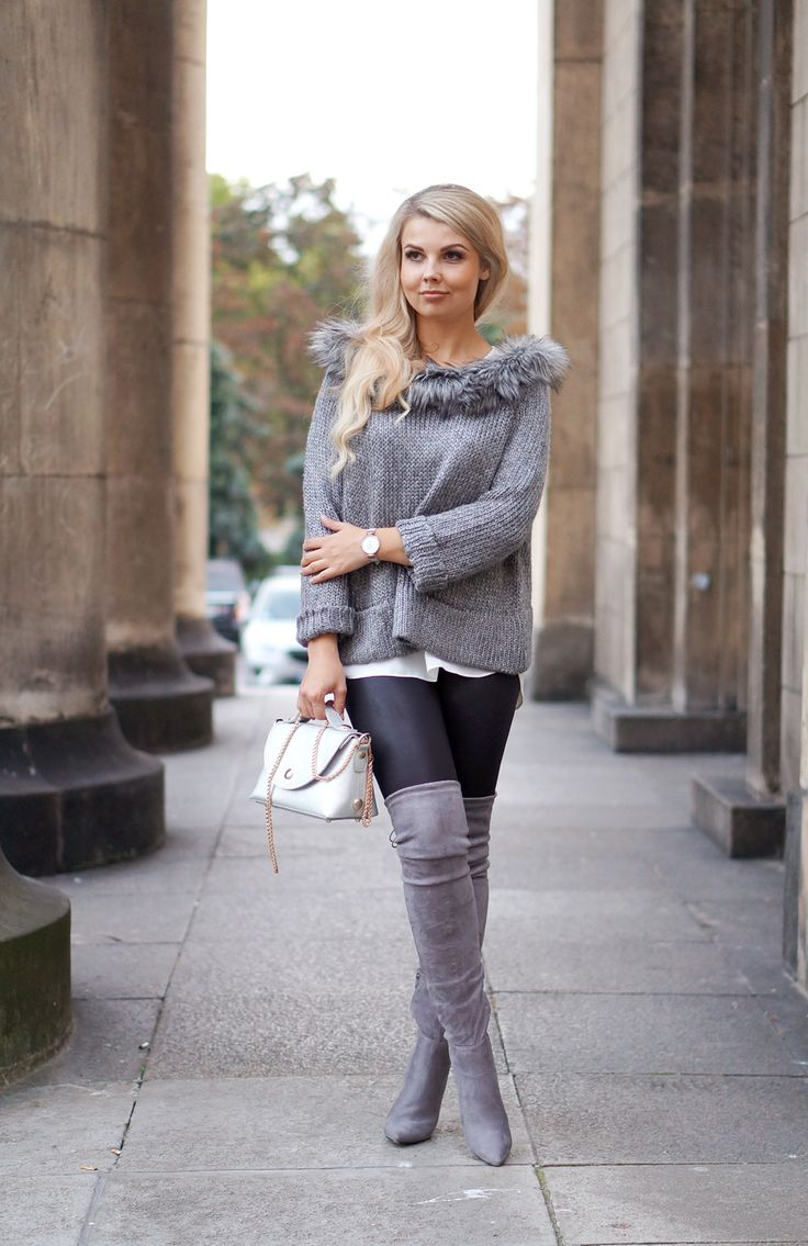 Knee High Boots Fashion Pinterest