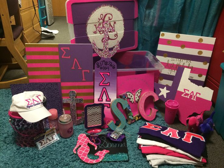 Bought/Made this stuff for my little! #SMUGammas #TexasGammas