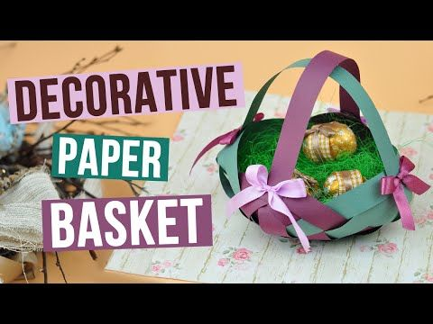 We'll craft a lovely handmade paper basket which you use for sweets and cookies and perfectly adorn a holiday table! #paperbasket #diybasket #eastercraft