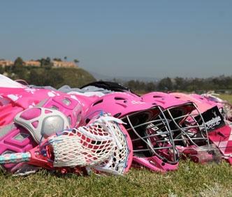 Fun pink helmets.