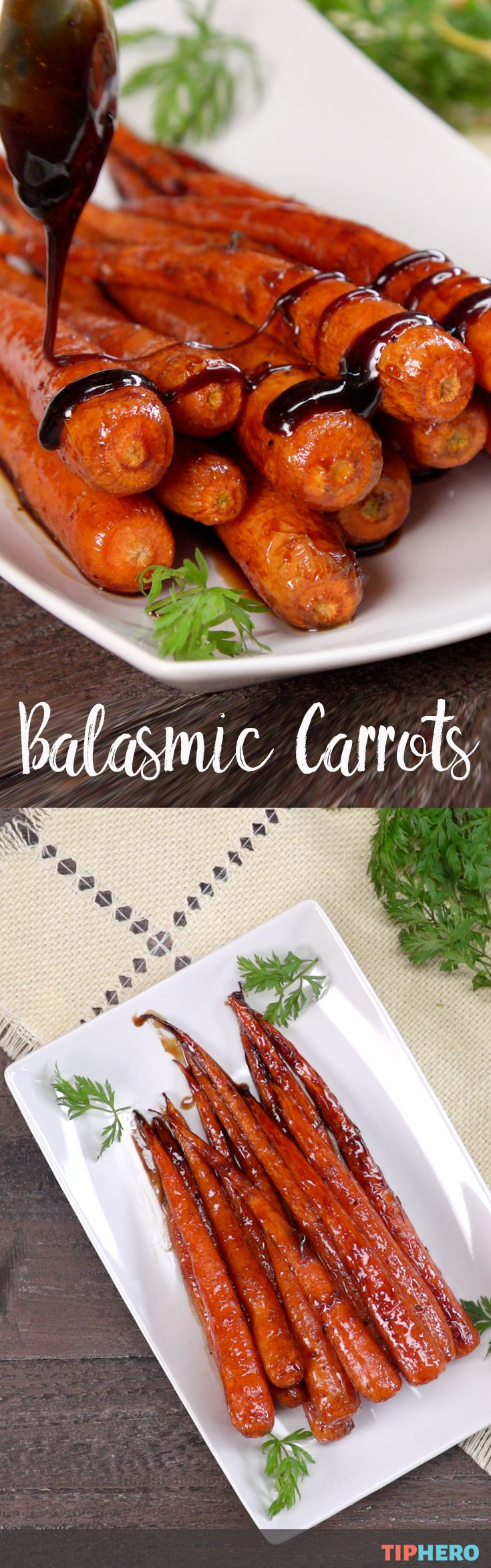 This ultra-delicious way of preparing carrots tastes so indulgent, you'll opt for this healthy side dsh time and time again for a savory side that will elevate any meal. Click for the recipe and how-to video.