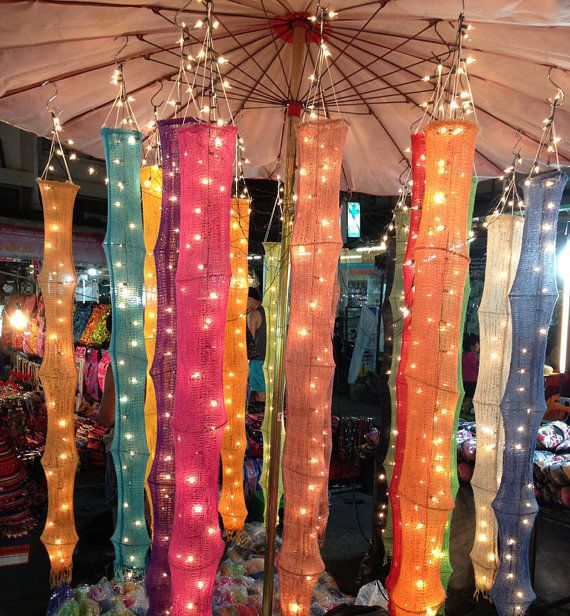 Hanging Lights Cotton Yarn Set Fantastic Decor by thailights