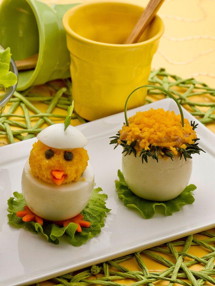 Uova ripiene pasquali: simpatici e gustosi. Daranno un tocco in più alla tua tavola di Pasqua! [Easter filled eggs]