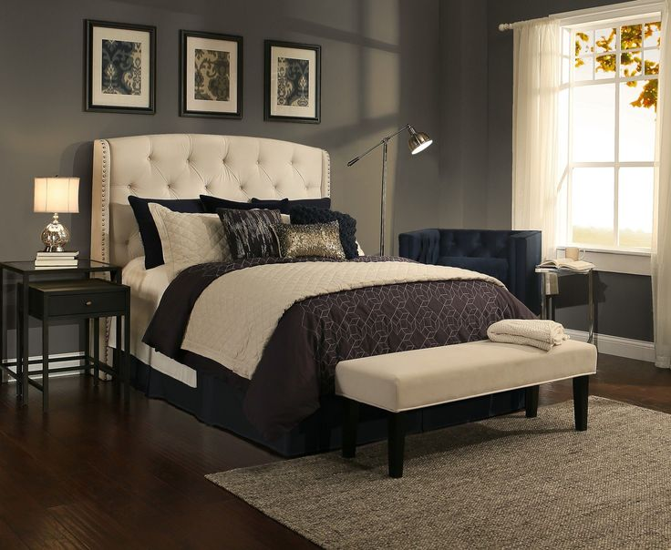 Found it at Wayfair - Peyton Upholstered Headboard and Bedroom Bench