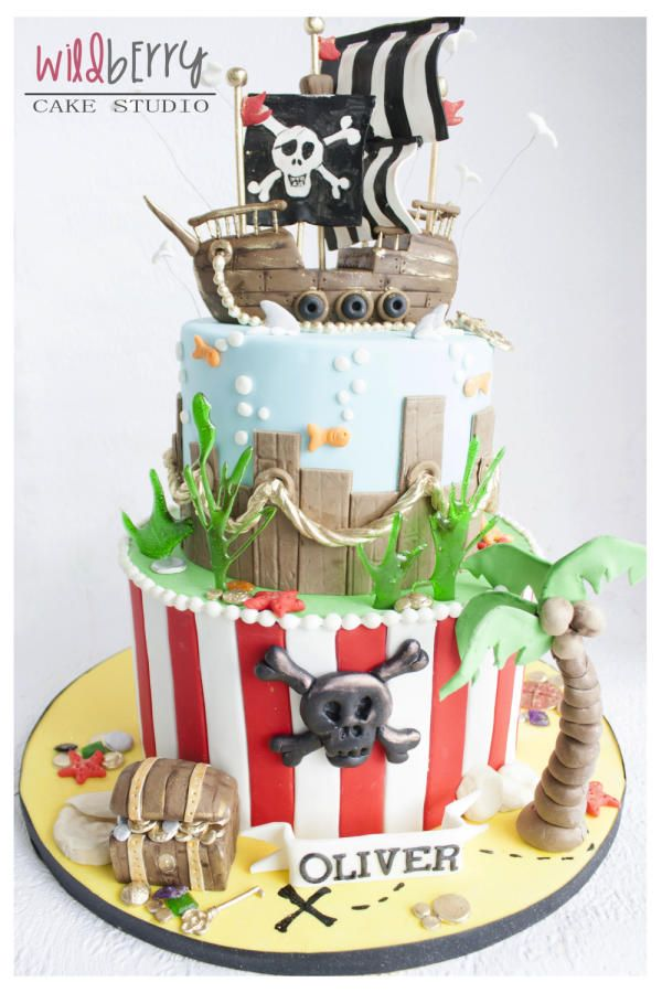 Ahoy there matey - Pirate ship  - Cake by Wildberry Cake Studio