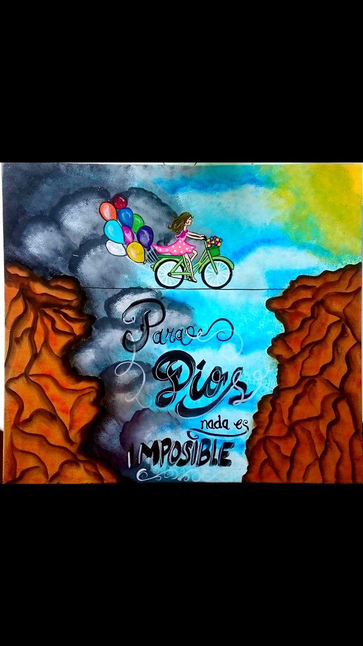 Cuadro en MDF para Dios nada es imposible