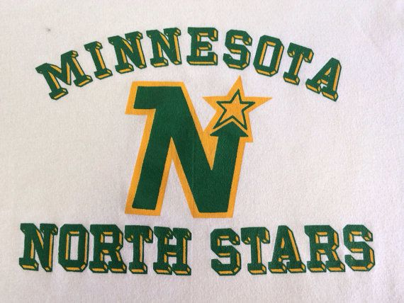 NORTH STARS 70s MINNESOTA Jersey Tshirt/ Rare by sweetVTGtshirt, $95.00