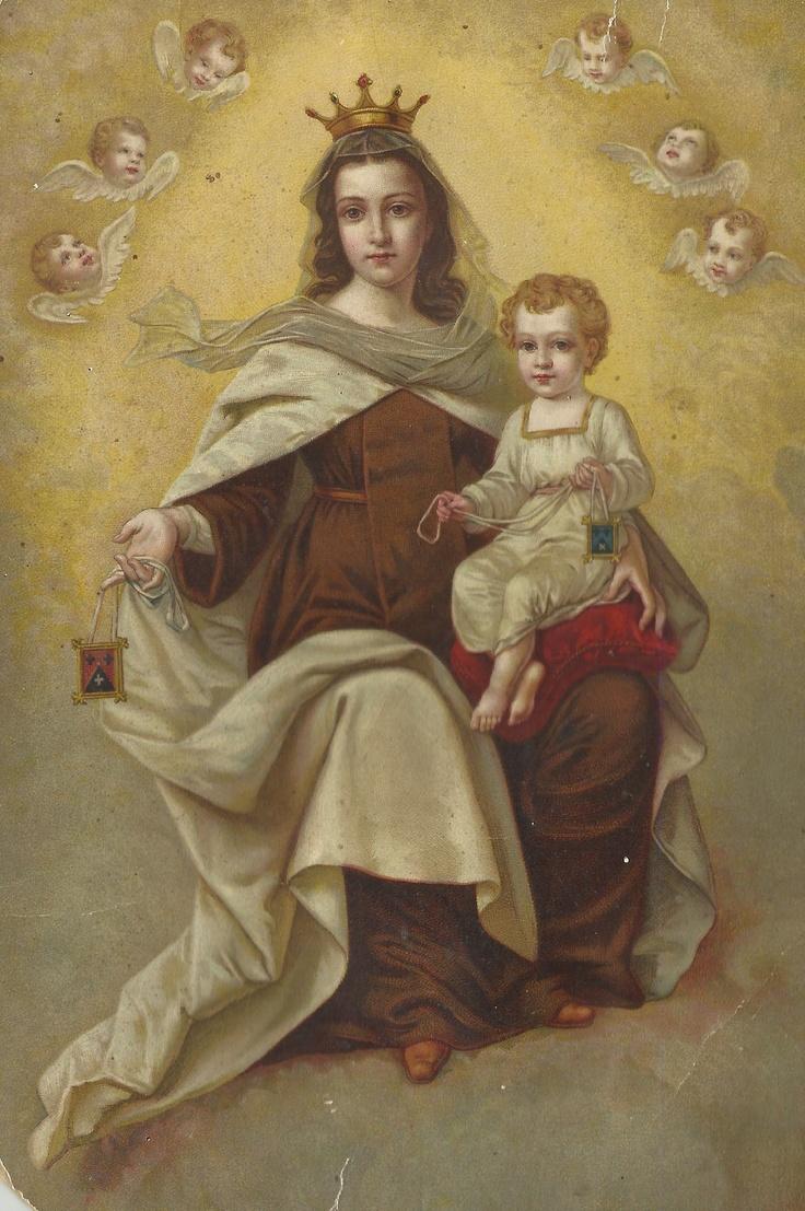 Virgen del Carmen. | Photo - Madonna and Child | Pinterest | Lady, Del ...