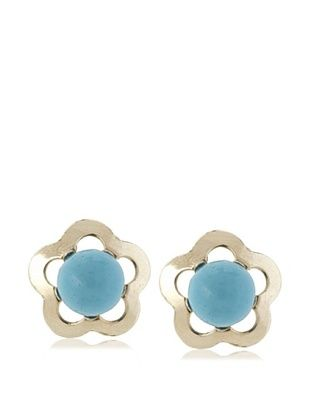 39% OFF Mindy Harris Blue Flower Screw Back Earrings