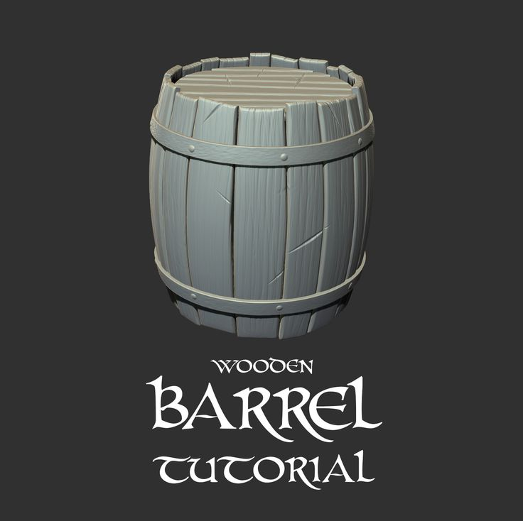 Wooden BARREL Tutorial, CARLOS MONTERO on ArtStation at https://www.artstation.com/artwork/DEkJE