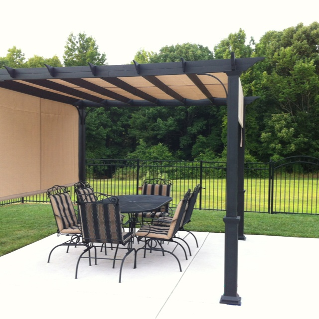 47 best images about pergolas on pinterest planters decks and diy pergola for Pergola aluminium x