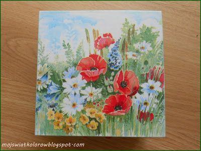Mój świat kolorów...: Wiosenne pudełko...