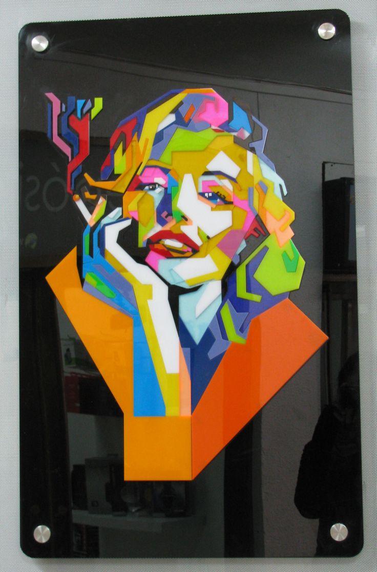 Cuadro Marilyn en Acrílico #Acrilico #Cortelaser #Lasercut