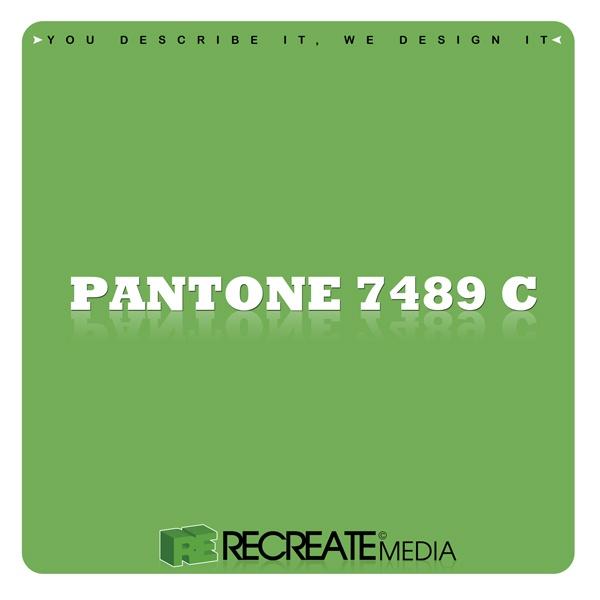 Recreate Media Green Pantone 7489 C Favorite Colors
