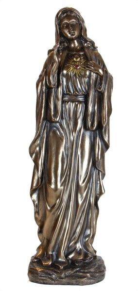 We Love The Emotion On This Immaculate Heart Of Mary Statue. Made Of  Bronzed Powder Coated Resin She Can Be Placed Indoors Or Outdoors