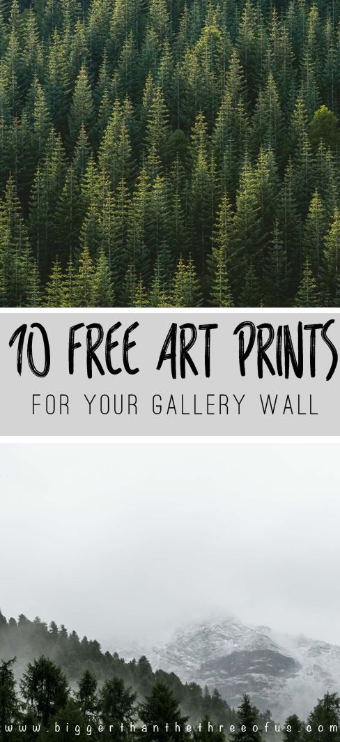 10 FREE Art Prints for Your Gallery Wall