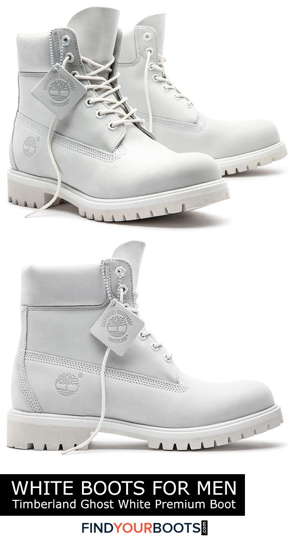 Timberland Ghost White boots - White boots are not only a bold fashion statement but a smart alternative to white sneakers during inclement weather. Here we review our favorite all white boots for men that are available right now.