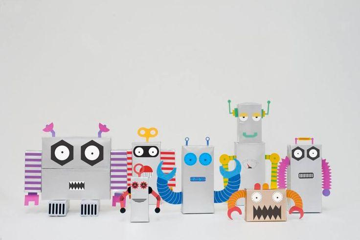 RECYCLE, DIY, TOYS, , ROBOTS, TETRAPACK, TETRABRICK