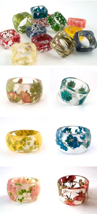 Handmade Resin Jewelry with Real Flowers