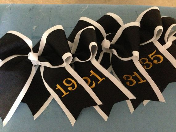 Extral Large Volleyball Bows by RibbonsNLaceEtc on Etsy