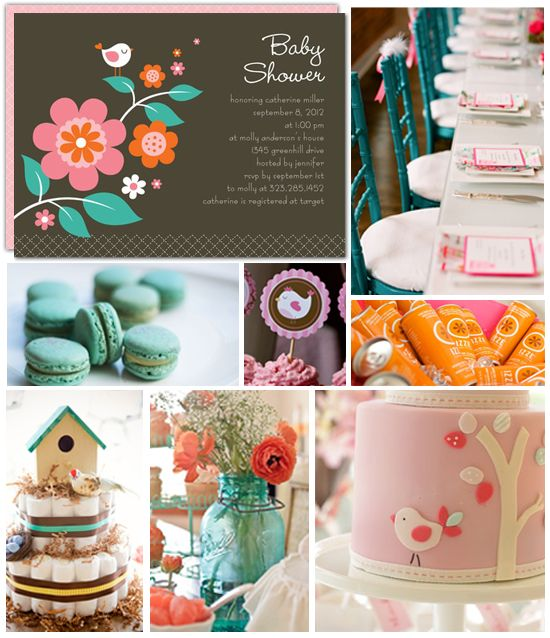 Birdie Baby Shower Inspiration Board By Tiny Talk | The Tiny Prints Card & Stationery Blog
