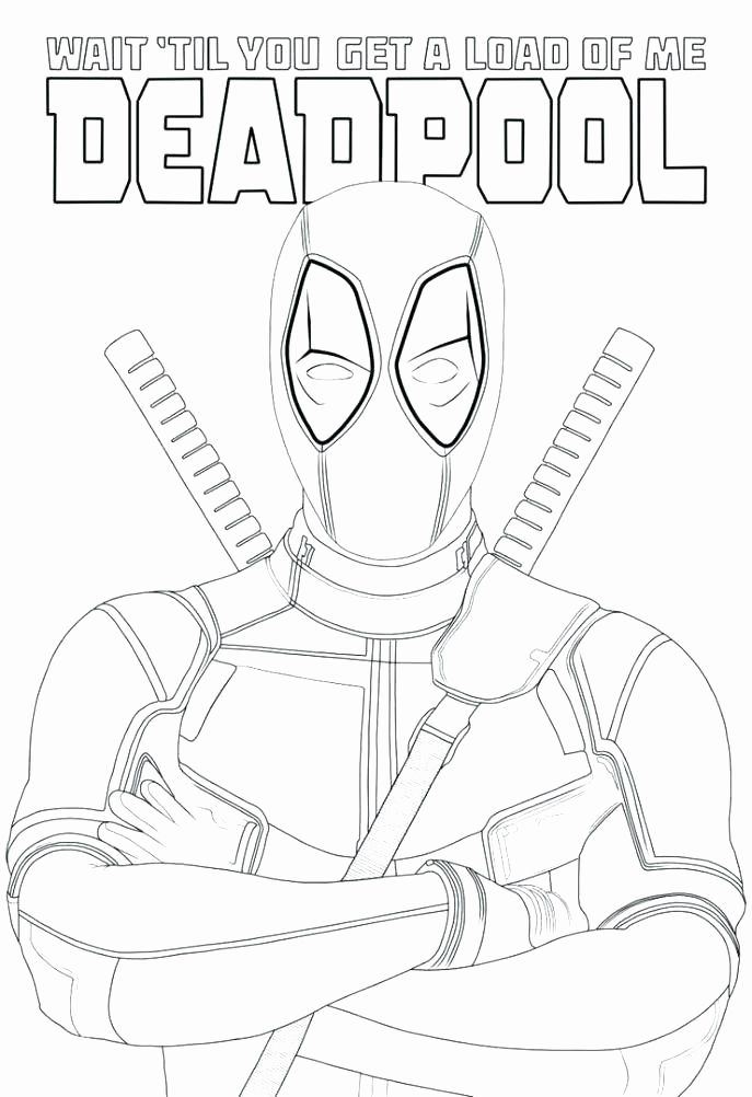 Deadpool Coloring Pages For Kids