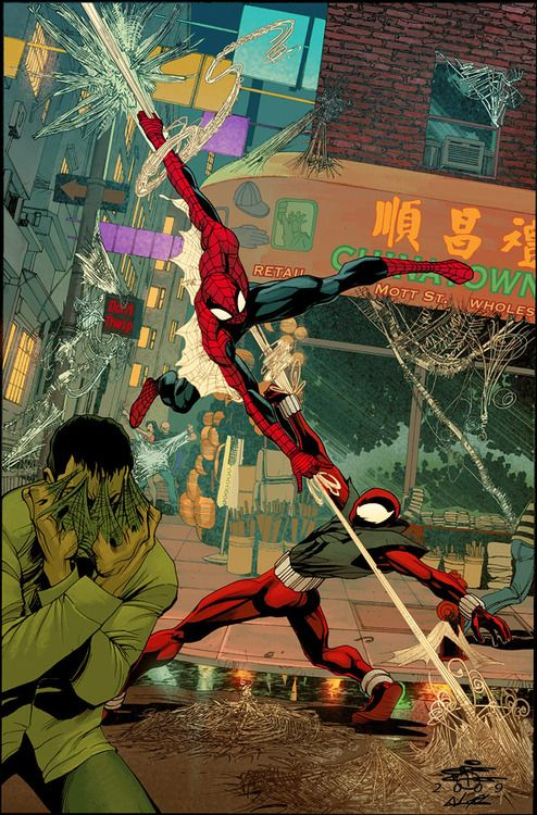 Spider-Man vs Scarlet Spider by Chris Cross and John Rauch