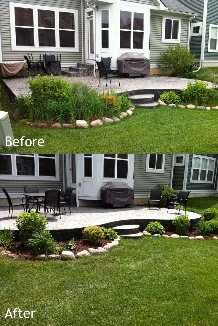 14 best images about before and after landscaping on for Gardening and landscaping services