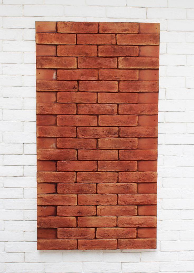 Panel ladrillo rojo instalación sencilla no necesita enmasillar.