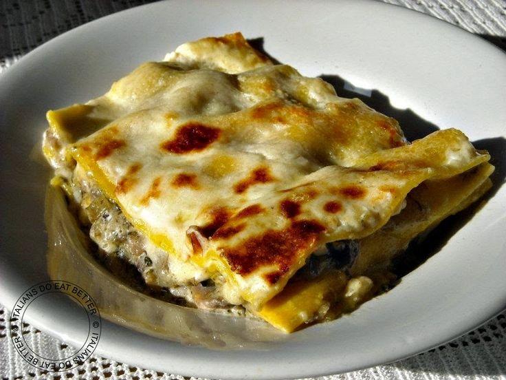 ITALIANS DO EAT BETTER: LASAGNE CON FUNGHI E CARCIOFI