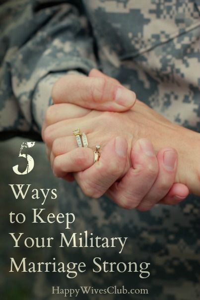 5 Ways to Keep Your Military Marriage Strong - 5 things I have learned that have helped strengthen our marriage through the tough times, and separations, and I believe they can help keep your military marriage strong too!