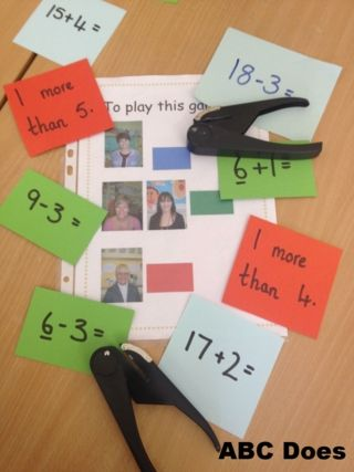 Find the colour that matches your group, work out the sum and hole punch the answer – then you can show it to an adult.