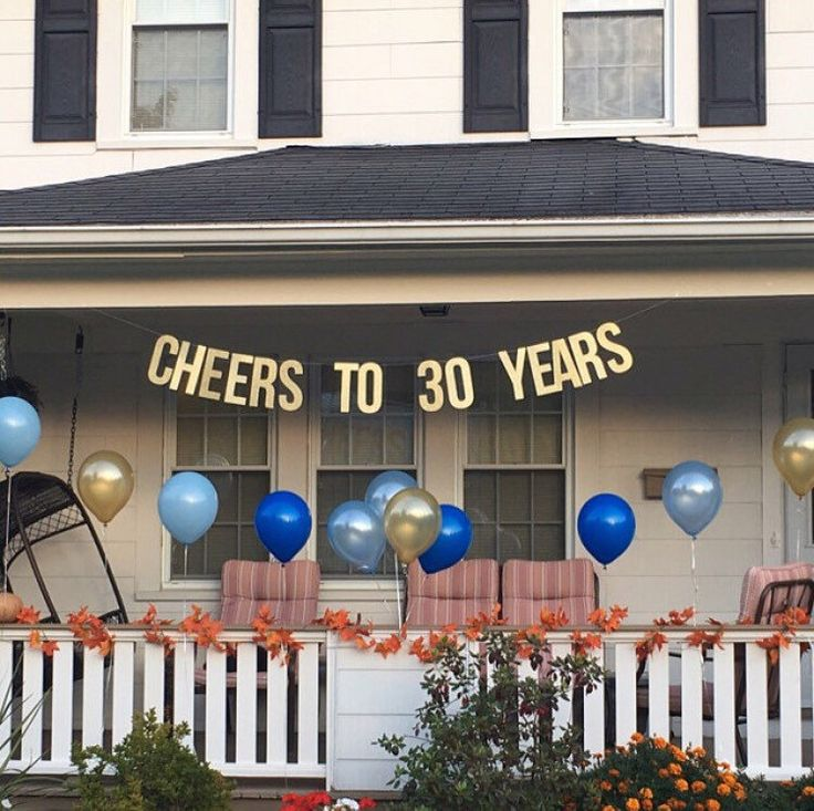Cheers To 30 Years Banner | 30th wedding anniversary | 30th birthday | party banner | party decor | 30th | dirty 30 | 30 years | by PaperSupplyStation on Etsy https://www.etsy.com/listing/450118236/cheers-to-30-years-banner-30th-wedding
