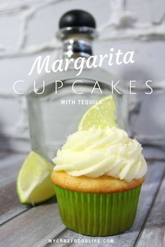 Margarita Cupcakes with Tequila! | Cinco de Mayo, here we come!