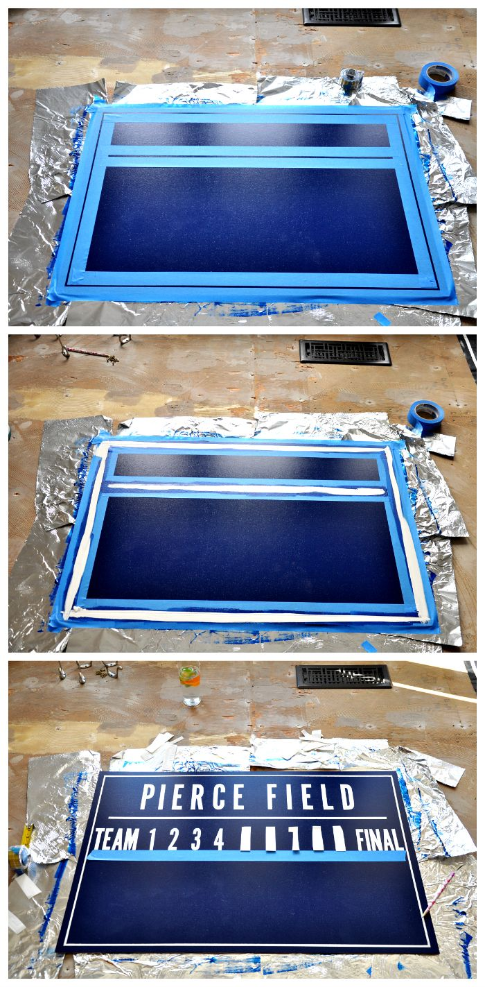 Painting A Baseball Scoreboard Sports Themed BedroomsBaseball ScoreboardBaseball FieldBaseball
