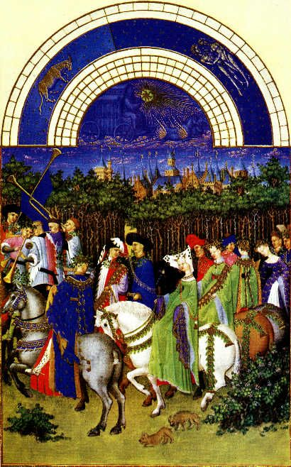 Les Très Riches Heures du Duc de Berry Images and explanations on a page by page basis http://www.christusrex.org/www2/berry/index.html