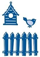 Marianne - Creatables Die - Fence, Bird and House