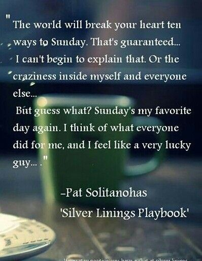 silver linings playbook pat and tiffany relationship quotes