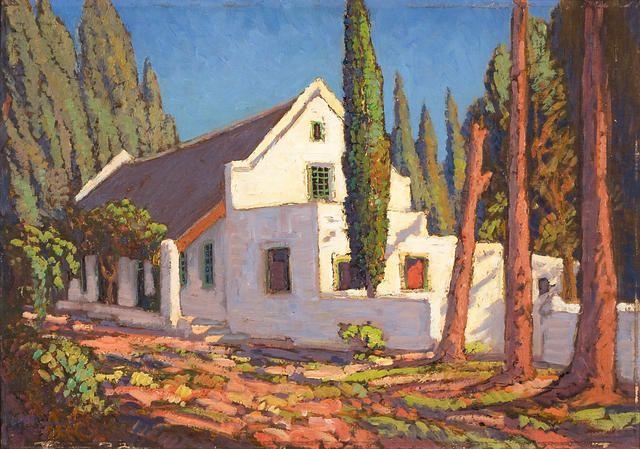 Jacob Hendrik Pierneef (South African, 1886-1957) Cape farmhouse