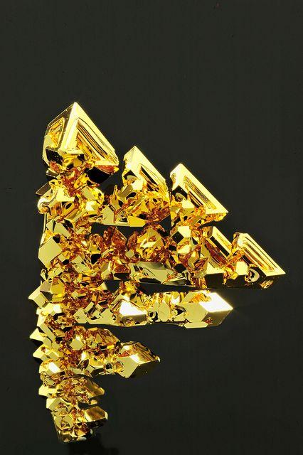 octahedral gold crystals   Flickr - Photo Sharing!