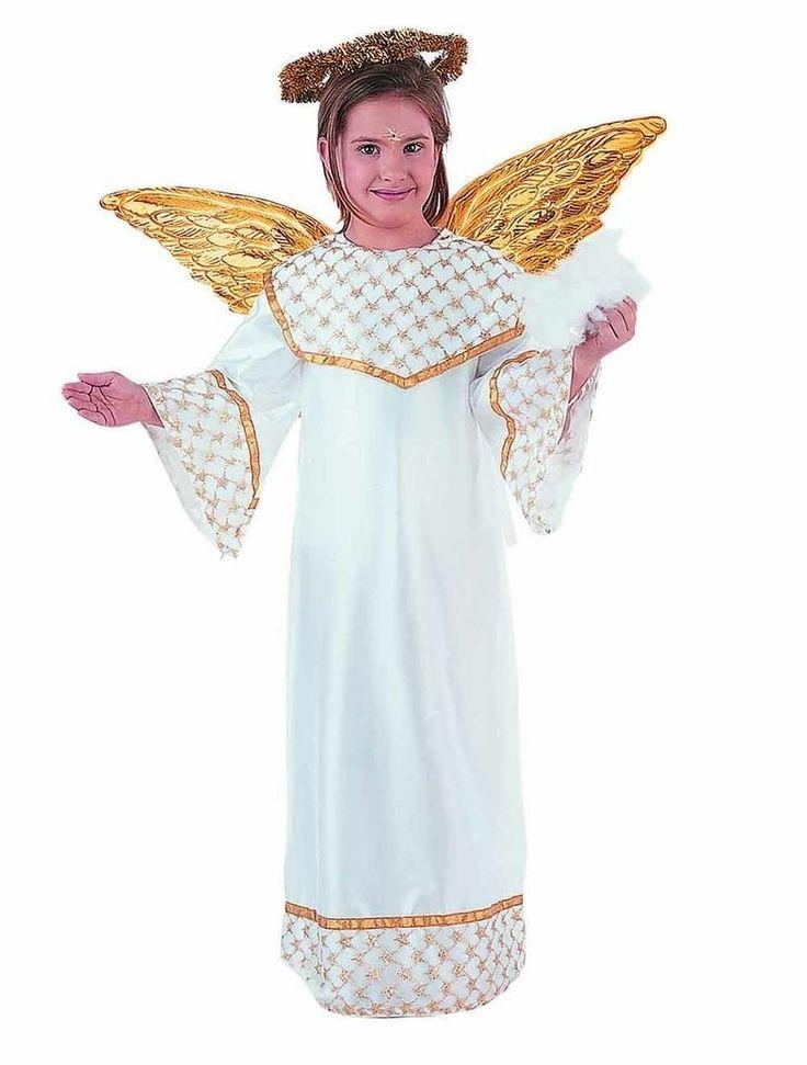 Disfraz de angel de navidad para niña o niño de 3 a 13 años
