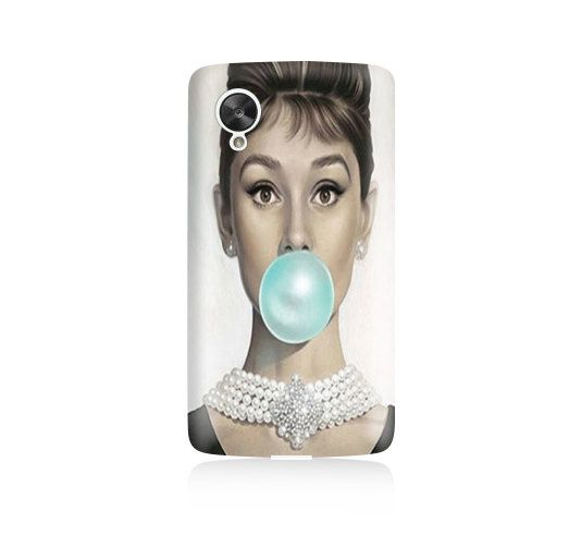 Audrey Hepburn Bubble Gum Cover Google Nexus 5 Case, Nexus 5 cover