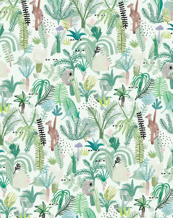 FERN GULLY A3 by MinPinShop on Etsy