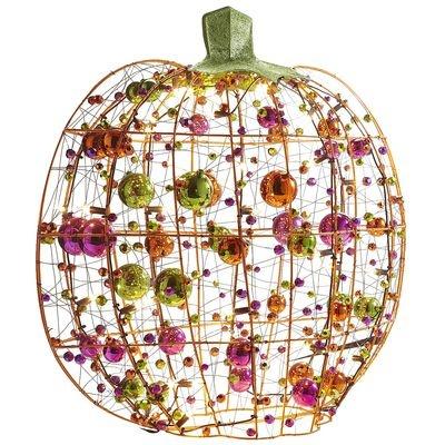 Pre-Lit Mirror Pumpkin